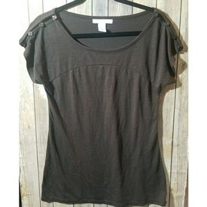 CHARLOTTE RUSSE brown t-shirt